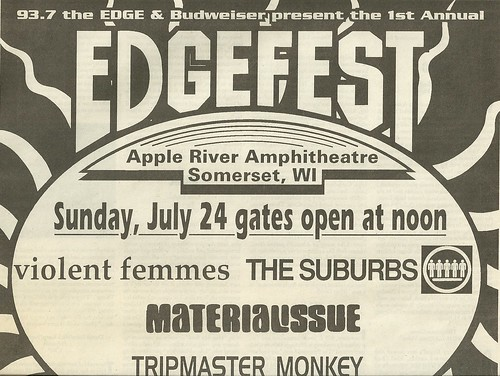 07/24/94 Edgefest 1 @ Apple River Amphitheatre, Somerset, WI (Top)