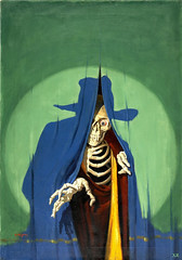 GEORGE-ROZEN-(American-1895---1974).-The-Creeping-Death,-The-Shadow-Magazine-pulp-cover,-January-15,-1933