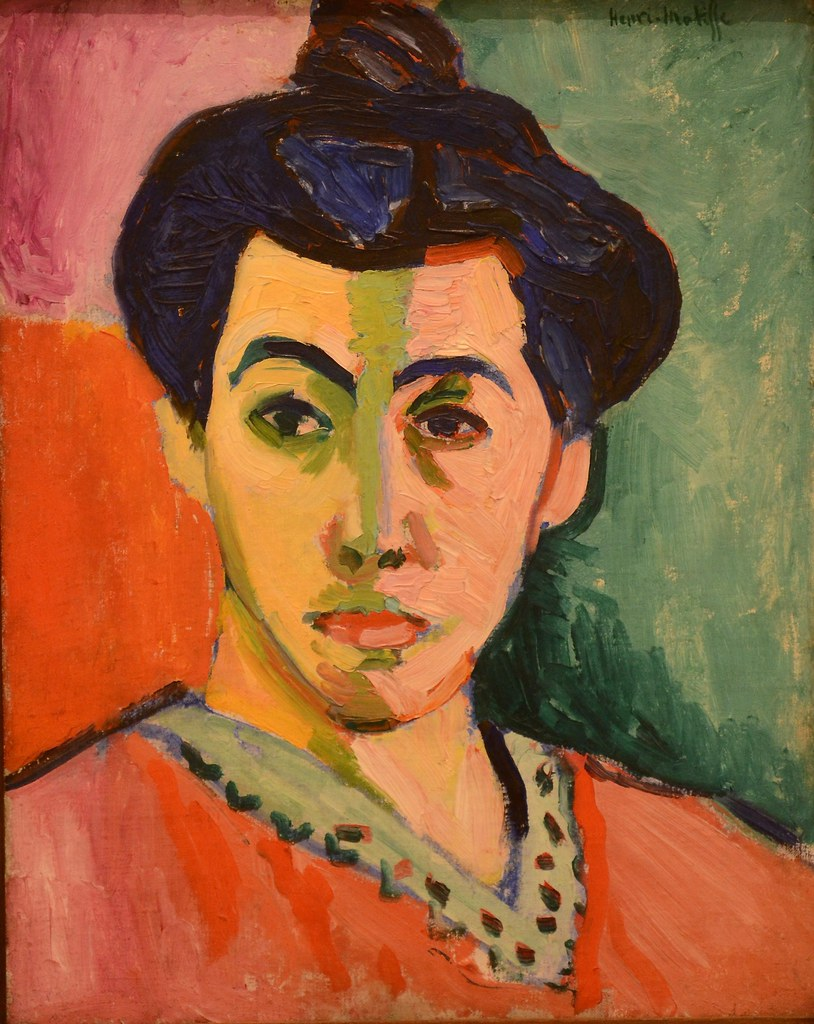 Portrait of Madame Matisse, The Green Line, Henri Matisse, 1905