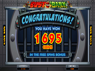 Bust the Bank Free Spins Prize