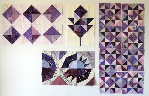 Design Wall - April 6 - a Purple Haze