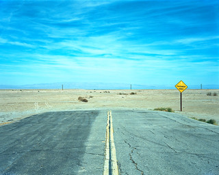 pavement ends. salton city, ca. 2014.