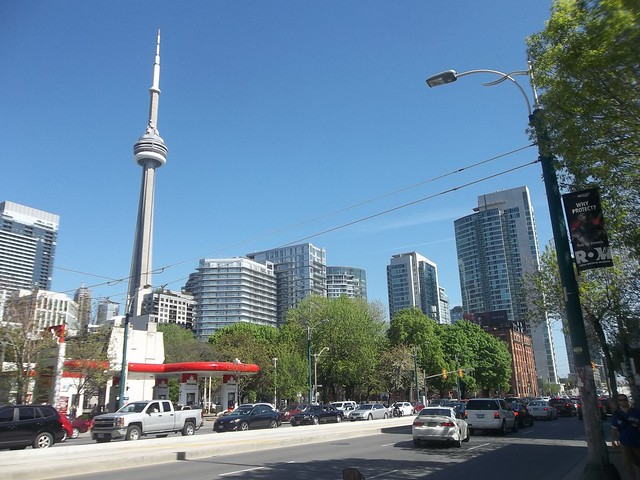 Looking south at Spadina and King
