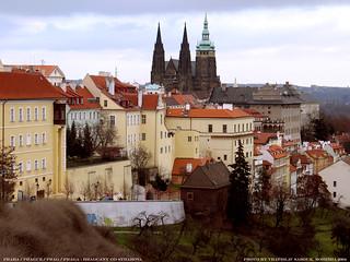 Praha/Prague/Prag pohled na Hradcany od Strahova