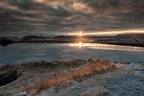 2016 iceland island mývatn lake sunrise landschaft landscape