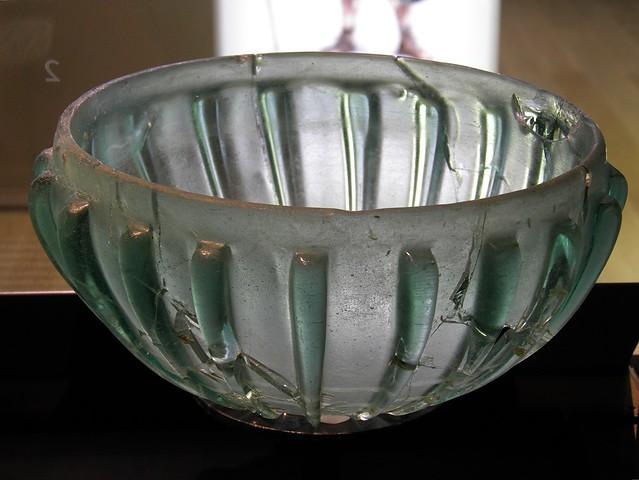 Ribbed glass bowl, 1st century A.D., Landesmuseum Württemberg, Stuttgart