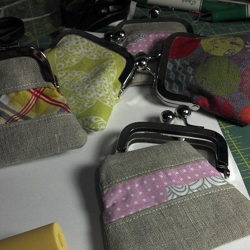 Gluing up some change purses for 'Ladies' Night Out' on Thursday :)