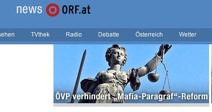 ÖVP verhindert Mafia-Paragraf Reform