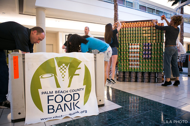 Palm Beach County Food Bank Canstruction
