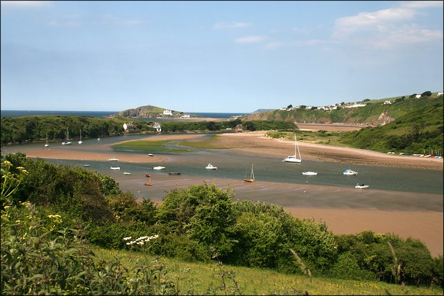 The River Avon north of Bantham