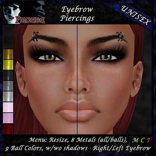 *P* Unisex Eyebrow Piercings A1 ~8 Metals-9 Colors~