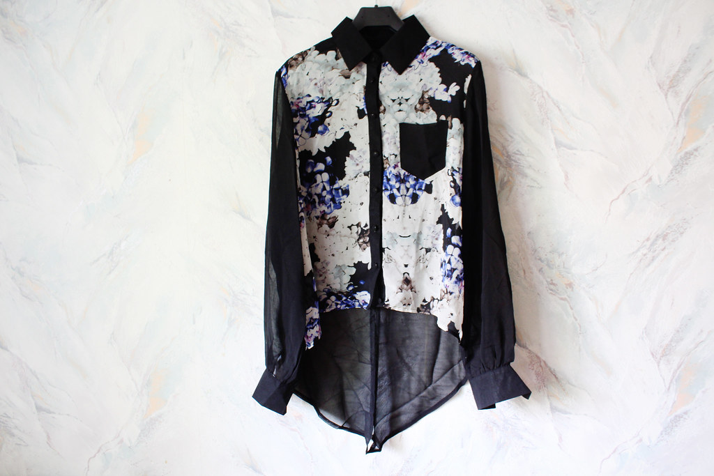 Persunmall, floral print blouse