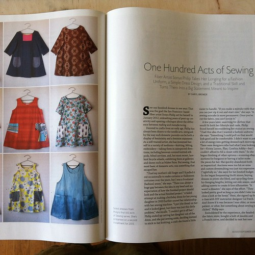 100 Acts of Sewing article
