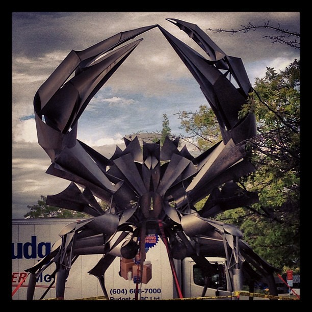 We grow our crabs big here ;) #vancouver #crabzilla #HRMacMillanSpaceCentre #explorebc