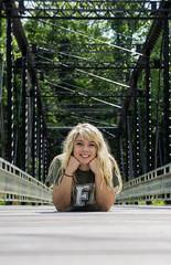 Jessica bridge laying down