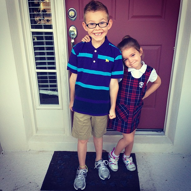 First day of school -- 2nd Grade and PreK