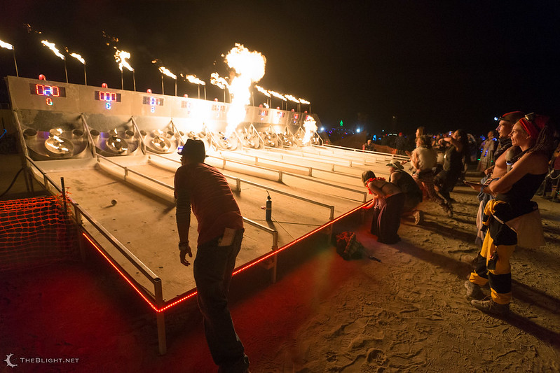 Riskee Ball at the Charcade, Burning Man 2013