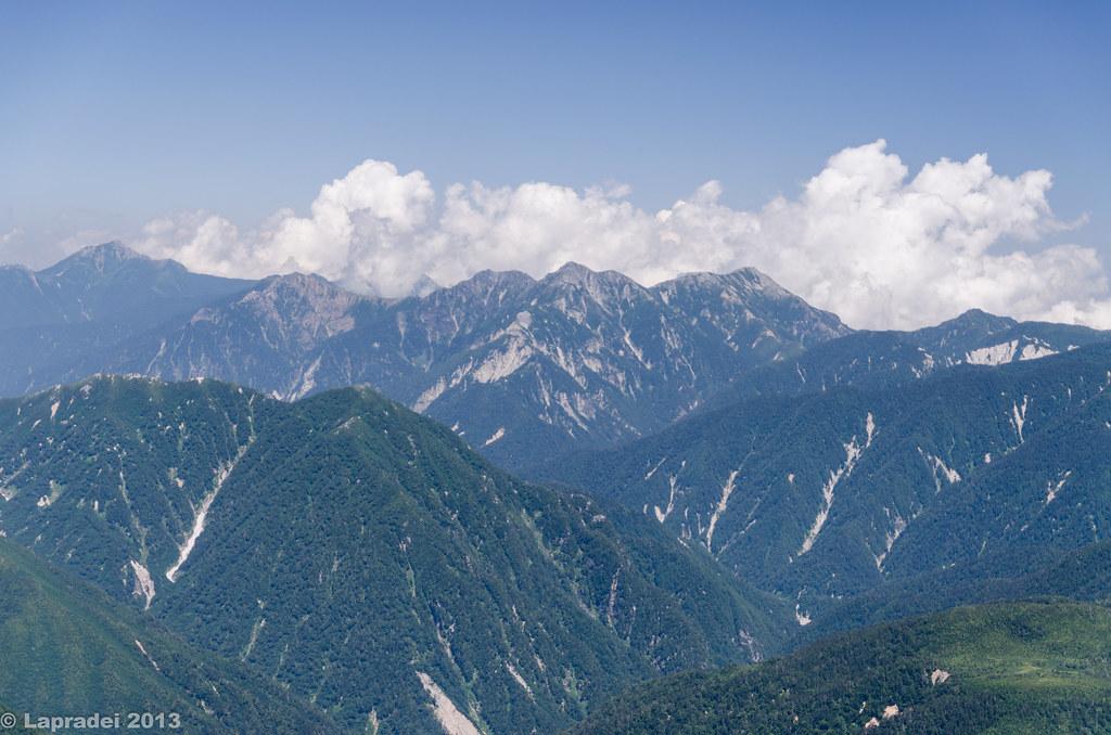20130812 鹿島槍ヶ岳、針ノ木岳、蓮華岳