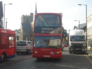 Sullivan Buses ELV5 on Route 626, Barnet Church