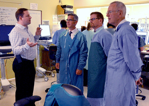 Minister Lake tours Royal Jubilee Hospital