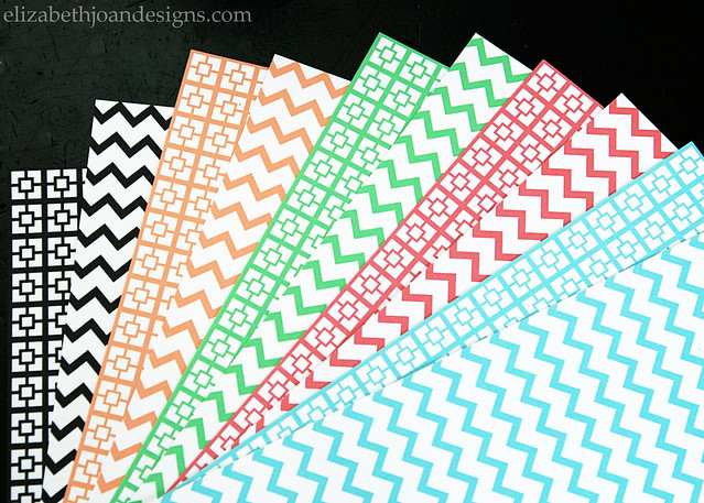 graphic about Chevron Printable Paper titled Printable Paper - ELIZABETH JOAN Types