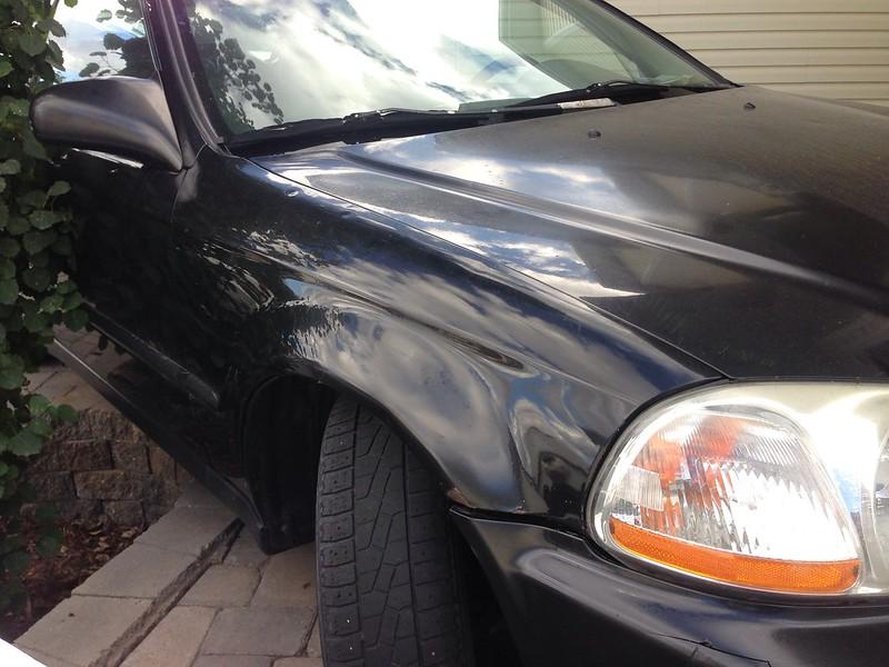 how to fix a car dent with bondo