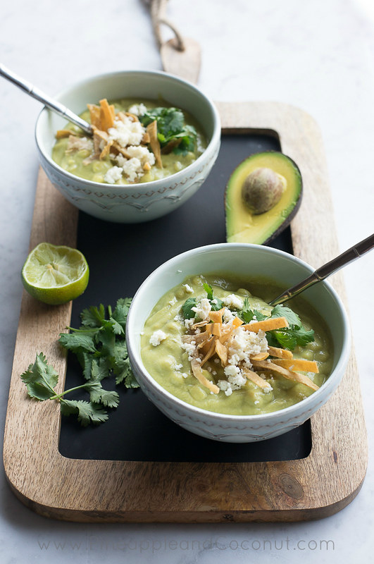 Avocado Chicken Corn Chowder www.pineappleandcoconut.com