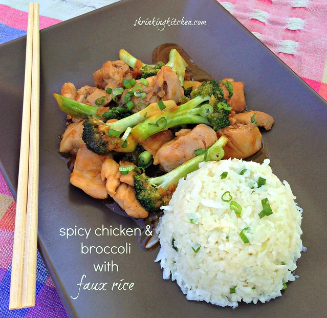 Spicy Chicken and Broccoli with faux rice