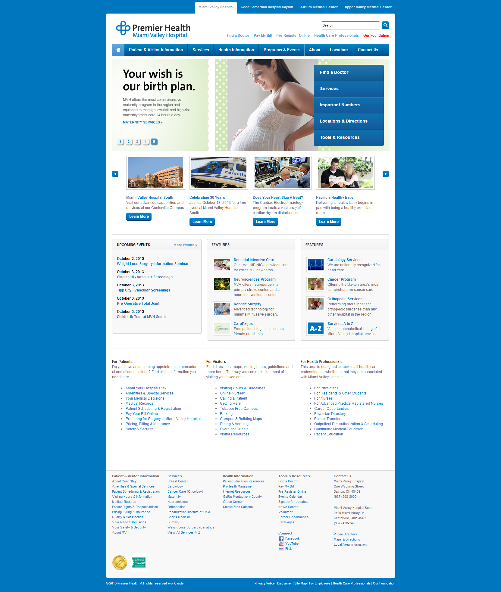 Miami Valley Hospital Beautiful Health Website