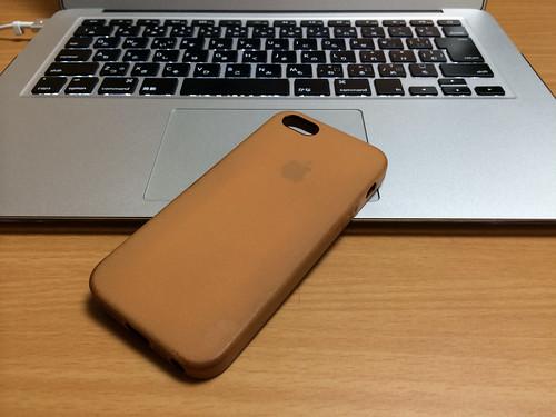 iPhone5s 純正レザーケース