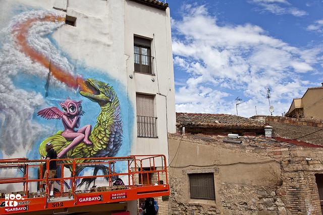 Ron English for #AvantGuardeUrbano Festival in #Tudela #Spain. #Hookedblog #streetart