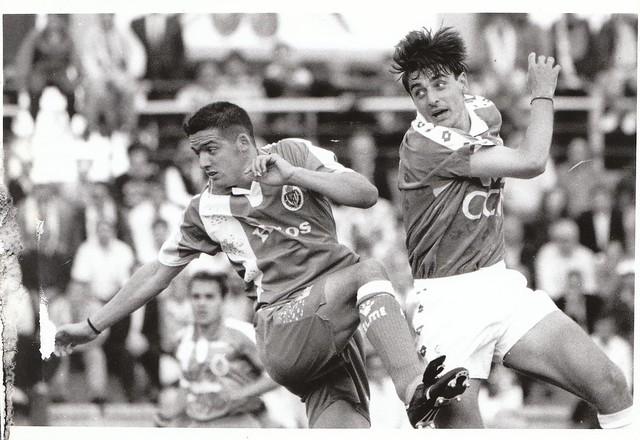 Juan Carlos Paniagua en el partido CD Toledo-Real Valladolid de la promoción de ascenso a Primera División en la temporada 1993/1994 © Fotografía de Carlos Monroy