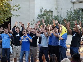 The Men's Blue and White a cappella group perform at Founder's Day 2013