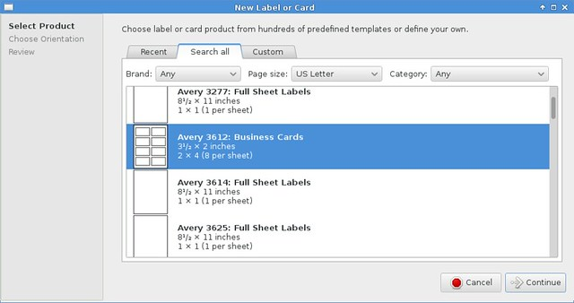 How to create custom business cards or labels in Linux - Xmodulo