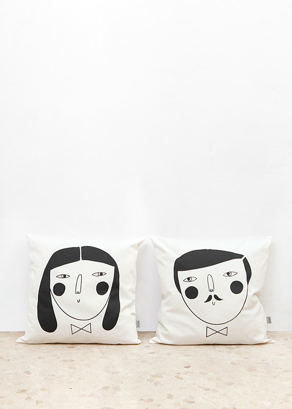 Faces cushions by Depeapa