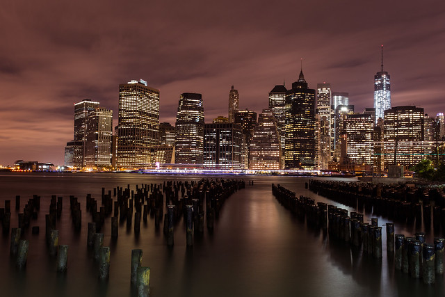 Bright lights, big city: Manhattan skyline from DUMBO *10*