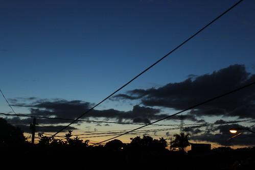 Líneas en el cielo.