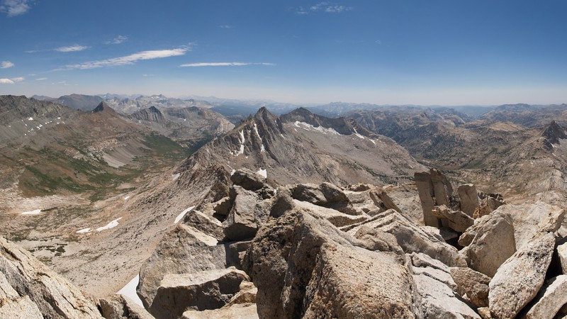 View south from the summit of Matterhorn Peak
