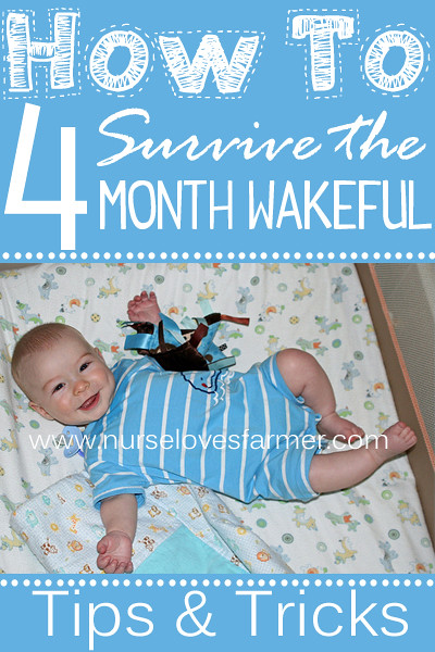 "4 month old waking up more than normal at night? Not really to eat or because they need you, but just to party? Totally normal! Here's some tips to help get you through the ""4 month wakeful"" period!"