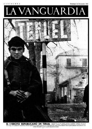 El ejército republicano en Teruel, 21 de diciembre de 1937, foto: Agustí Centelles by Octavi Centelles