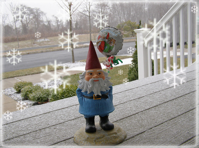 ~ it's snowing...
