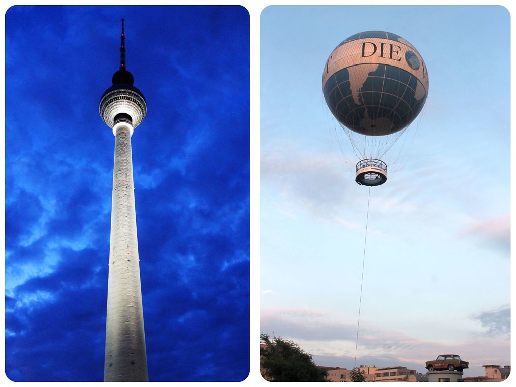 Berlin from above TV Tower Welt Hot Air Balloon