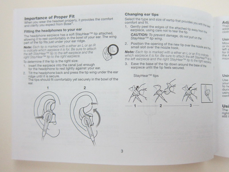Bose MIE2i - Instructions