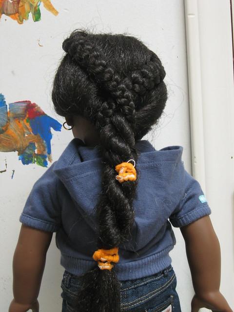 I'm very proud of her hairdo