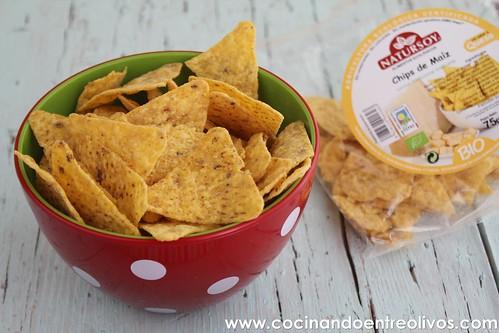 Guacamole con queso roquefort y bacon. www.cocinandoentreolivos (20)