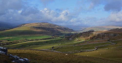 View across upper Wharfedale towards Kettlewell