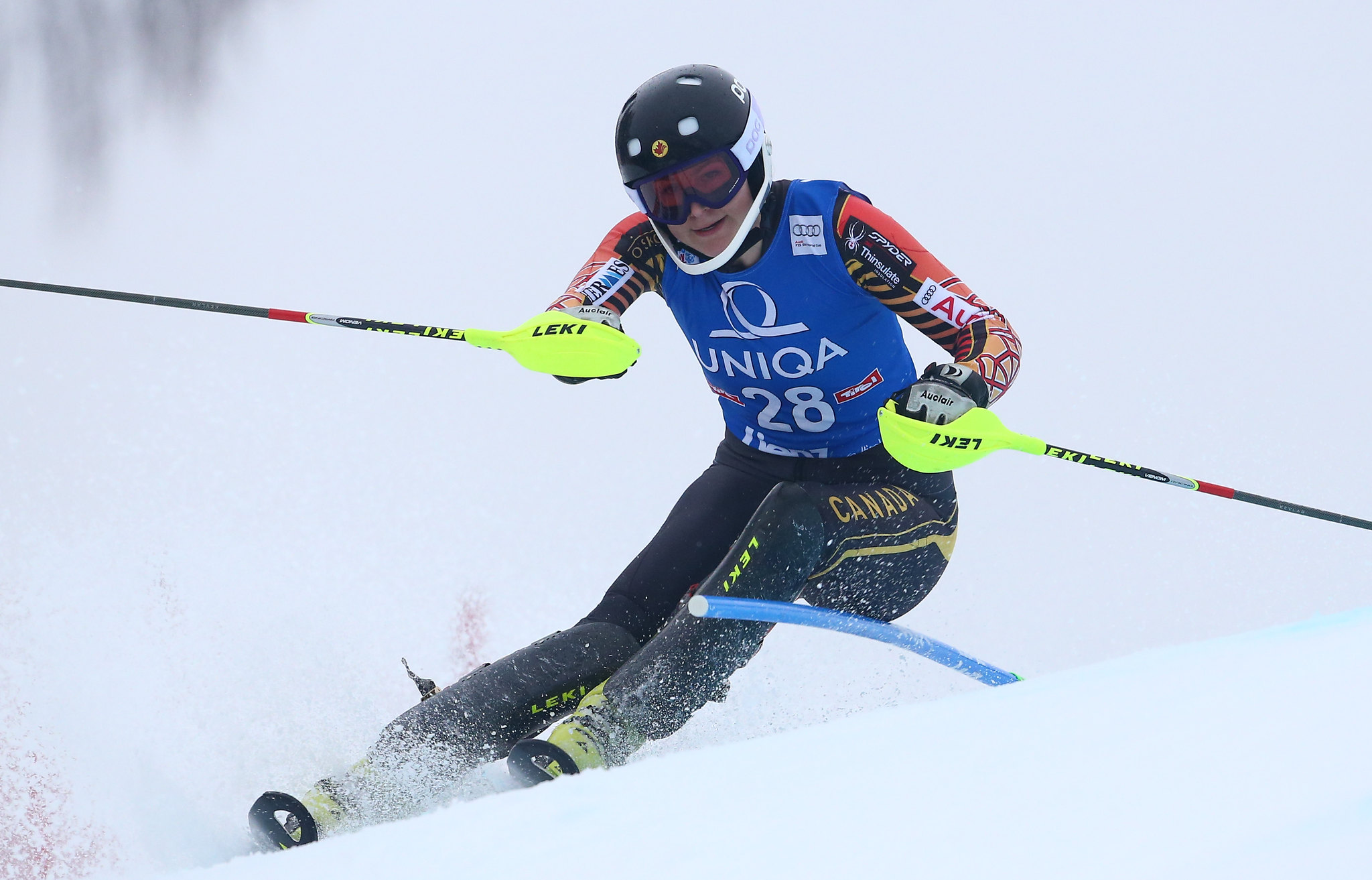 Elli Terwiell in action during the slalom in Lienz, AUT