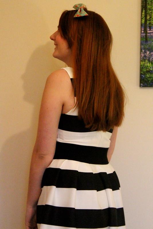 F&F monochrome striped dress, denim