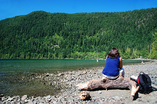 Cameron Lake, Pacific Rim Highway 4, Vancouver Island, British Columbia, Canada