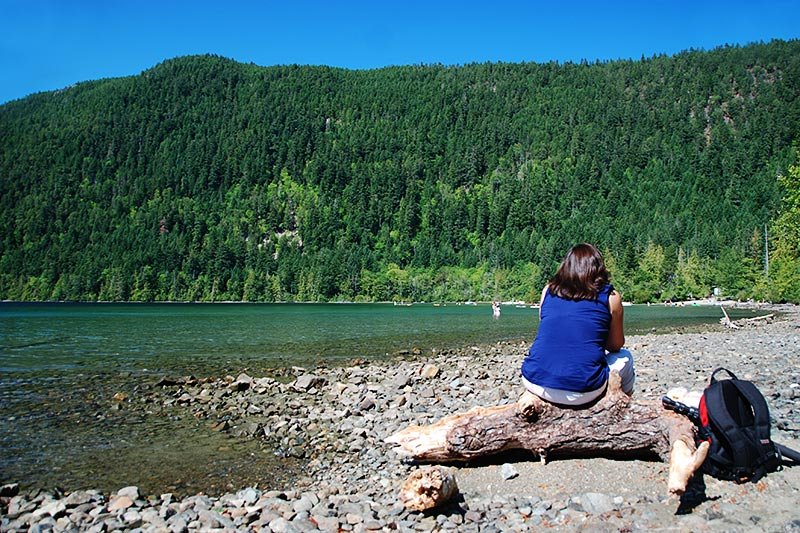 Cameron Lake, Pacific Rim Highway 4, Vancouver Island, British Columbia, Canada